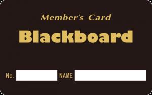 マットブラックカード(黒板カード)サンプル